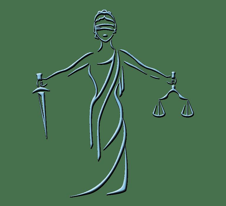 ikona zarys temidy sprawiedliwości